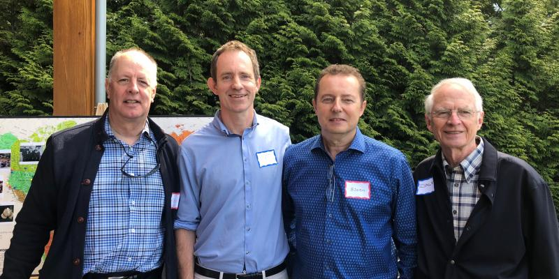 Keith Cross, Chair PPRI, Dr. Matt Farrer, Bjorn Moller, PPRI Board Member, and Dale Parker, Past Chair, PPRI